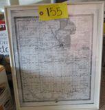 Framed Map 1873 Benton County Map