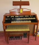 Hammond Organ with Lamp