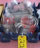 6 Glasses Measuring Cups, Glass Bakeware, Misc. Glass Dishes