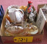 Rooster Cream and Sugar Containers, Misc. Glassware