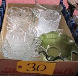 Candle Stick Holders, Misc. Glass Dishes