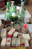 Old Soda Bottles, Old Spice Containers, Cartoon Jelly Jars