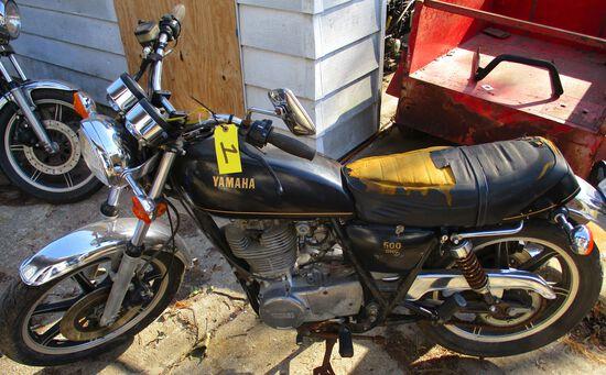 1978 Yamaha 500 OHC, ODO- 17185,Motor Free, No Key, Has Title
