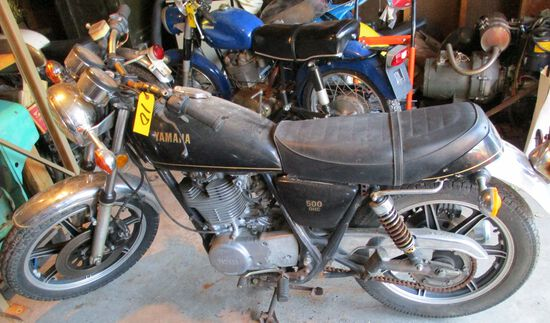 Yamaha 500 OHC, ODO-8876, Motor Free, No Key, No Title Parts Only (Year Unknown)