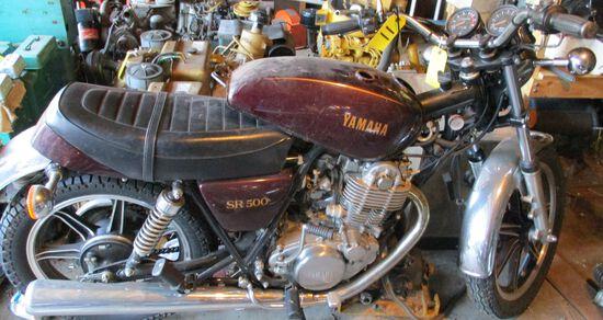 1980 Yamaha SR 500, ODO-3660, Motor Free, No Key, Has Title