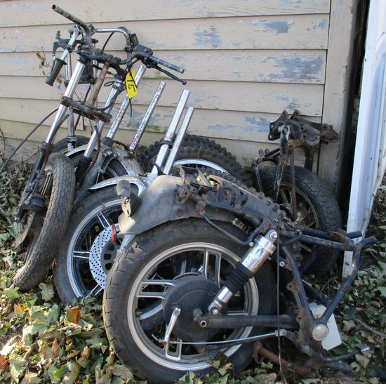 Assorted Forks, Rims & Tires (All One Lot)