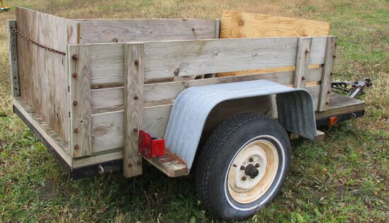 """Home Made Utility Trailer 4' Wide 7'6"""" Long"""