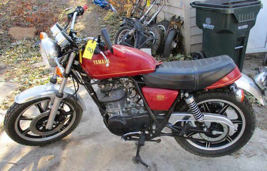 1978 Yamaha 500 OHC, ODO-8368, Motor Free, No Key, Has Title