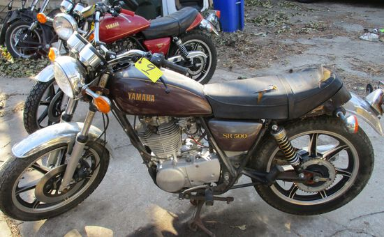Yamaha SR 500, ODO-16416, Motor Free, Has Key, No Title, Parts Only (Year Unknown)