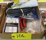 Gate Latch, Storage Hooks, Rubber Hose, Grass Sheers