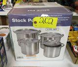 4 Piece Stock Pot Set