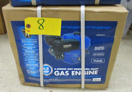 6.5HP 4 Stroke Horizontal Shaft Gas Engine