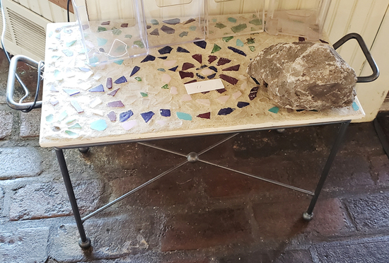 Small inlaid table
