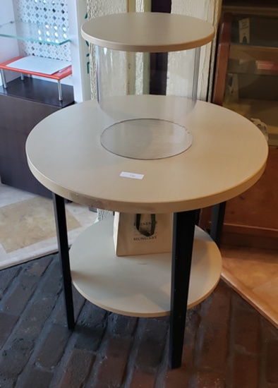Table with glass display