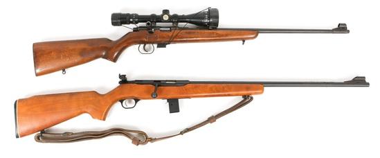 MOSSBERG 340BD & ROMANIAN M1969 .22 CALIBER RIFLES