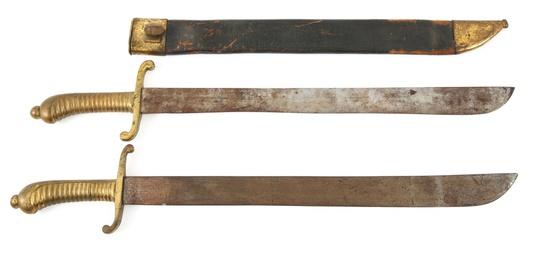 IMPERIAL GERMAN ARTILLERY SHORT SWORD LOT OF 2