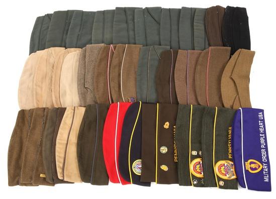 WWII - VIETNAM WORLD OVERSEAS CAP LOT OF 34