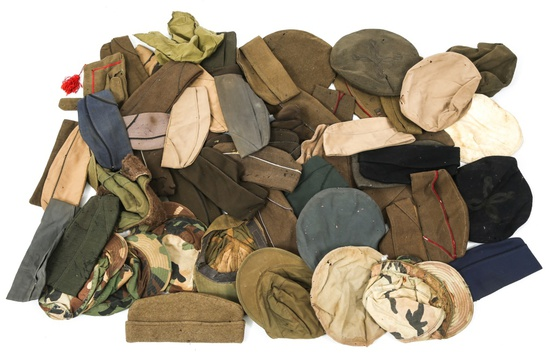 WWII - KOREA US ARMY OVERSEAS AND FIELD HAT LOT