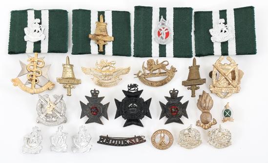 RHODESIAN SECURITY FORCES CAP BADGE & COLLAR LOT