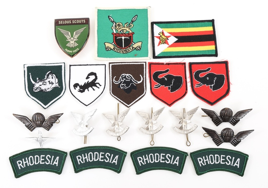 RHODESIAN DESFENSE FORCES PATCH - WINGS & BADGES
