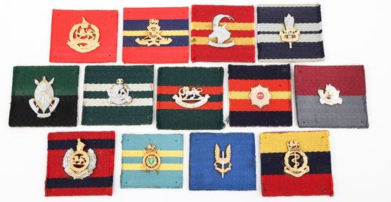 RHODESIAN UDI REGIMENTAL INSIGNIA DISPLAY CARDS