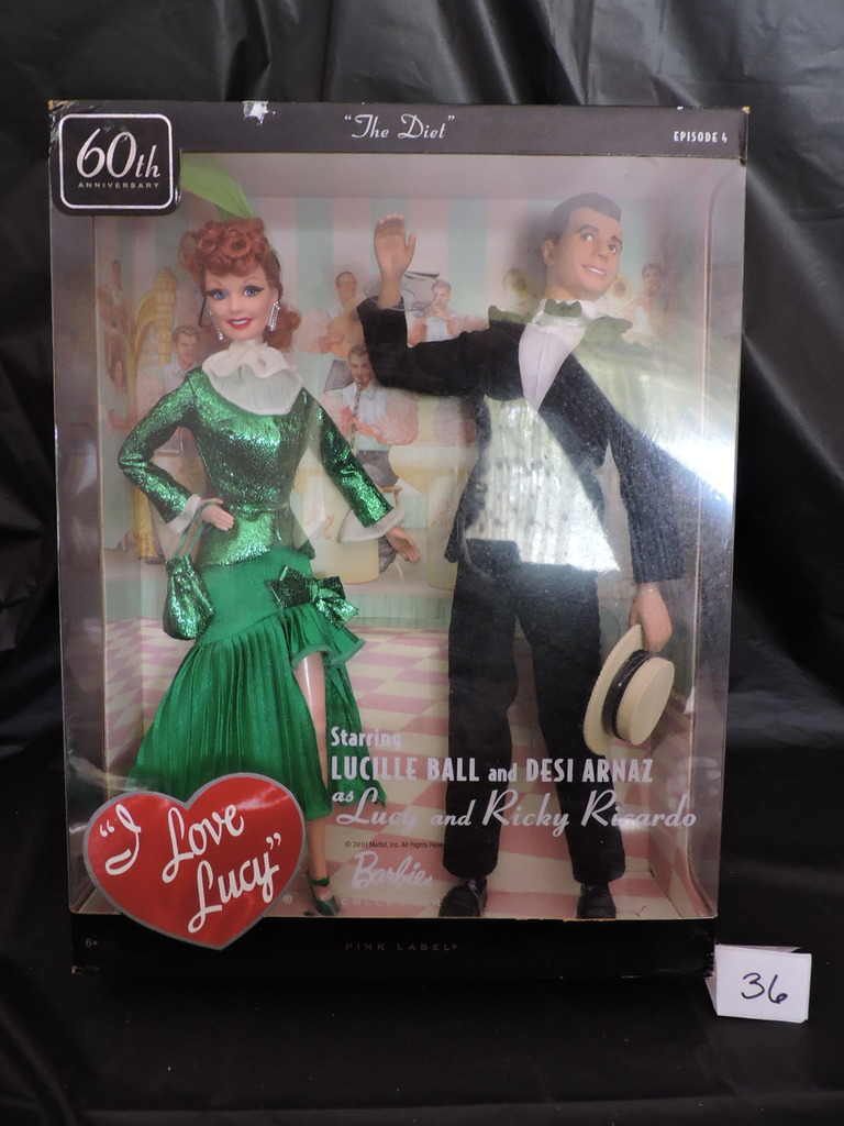 Lot I Love Lucy Barbies Lucy Ricky The Diet 12 Ep4 Nib
