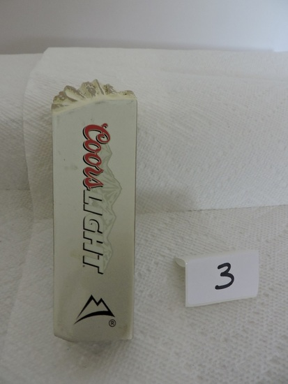 """Coors Light Tapper Handle, 4 sided, 6"""""""