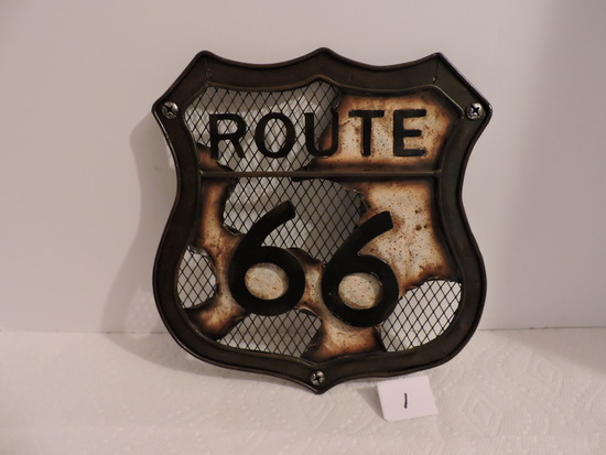 "Route 66 Wall Hanging, Metal, 10"" x 9 1/2"""