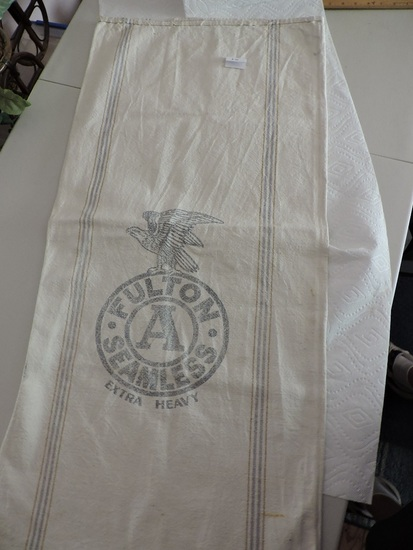 "Vintage Fulton A Seamless Extra Heavy, Cloth Bag, 19"" x 41"""