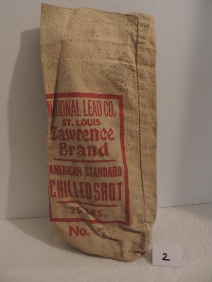 Vintage National Lead Co., St. Louis, Lawrence Brand,  American Standard, Chilled Shot Bag