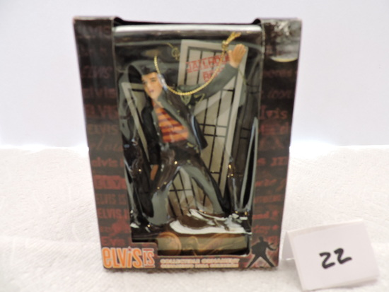 Elvis Is Collectible Ornament, Jailhouse Rock, 2008, Plastic, Trevco Trading Corp., 4""