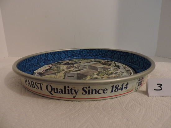 Pabst Beer Tray, 1776 Bicentennial 1976, P-1776 Limited Edition Issue 1976, Metal