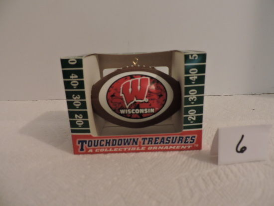 Wisconsin Badger Football Ornament, Polystyrene, Topperscot, Touchdown Treasurers