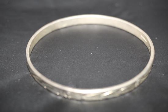 "Taxco Silver Bracelet, Mexico, 2 1/2"" round"