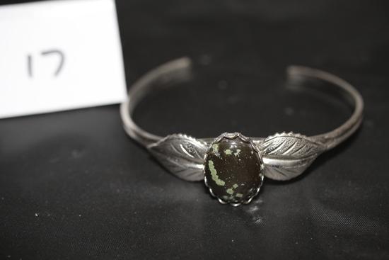 """Cuff Bracelet w/Stone, 2 1/4"""" W"""