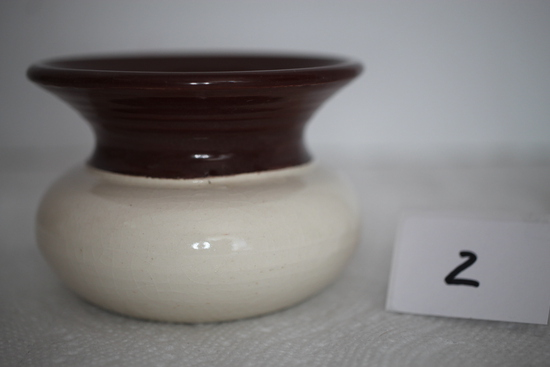 "Red Wing Spittoon, Wisconsin Red Wing Chapter, Oct 21, 2001, 3 1/2"" round x 2 1/2"" H"