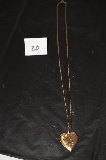 Locket & 14k Chain