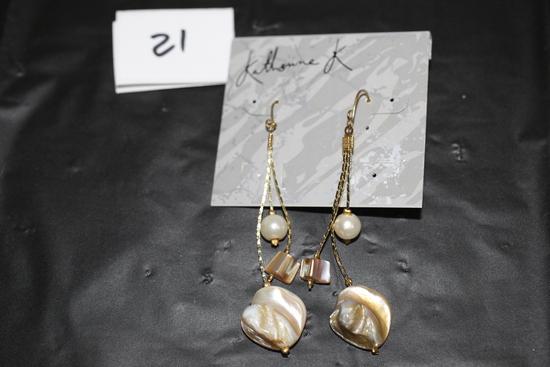 """Katherine K. Earrings, 2 3/4"""""""
