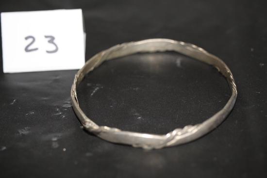 "Taxco Silver Bracelet, Mexico, 2 3/4"" round"