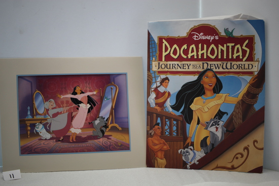 "Disney's Pocahontas Exclusive Commemorative Lithograph, 14"" x 11"""