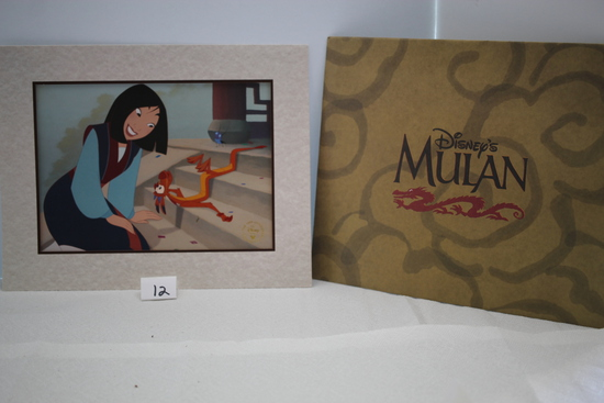"""Disney's Mulan Lithograph, The 1999 Lithograph Collection, 14"""" x 11"""""""