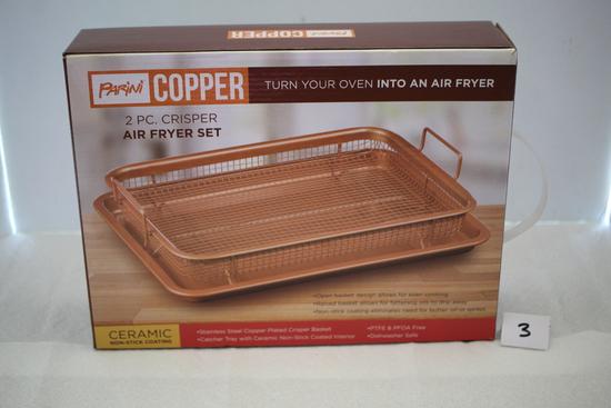 2 Piece Copper Crisper Fryer Set, Parini, NIB