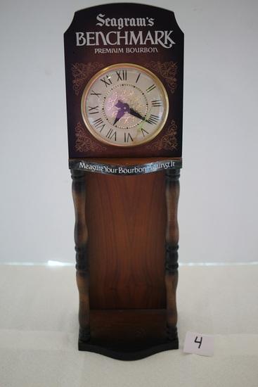 Seagrams Benchmark Premium Bourbon Clock