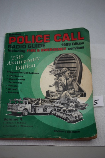 Police Call Radio Guide, 25th Anniversay Edition, 1988, Hollins Radio Data, Soft Cover