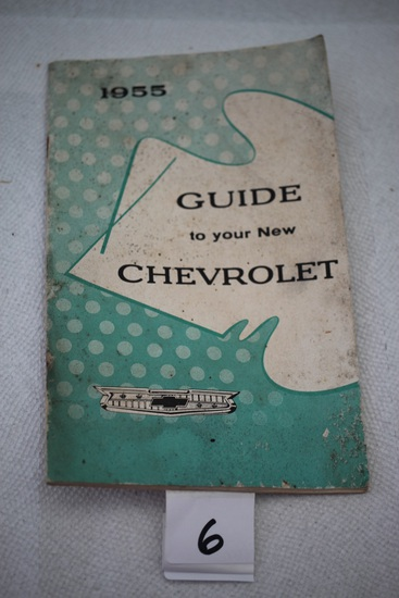 1955 Guide To Your New Chevrolet, Cover stained