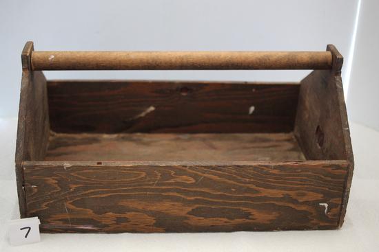 """Wooden Toolbox, 16 1/2' X 10 1/2"""" x 8"""""""