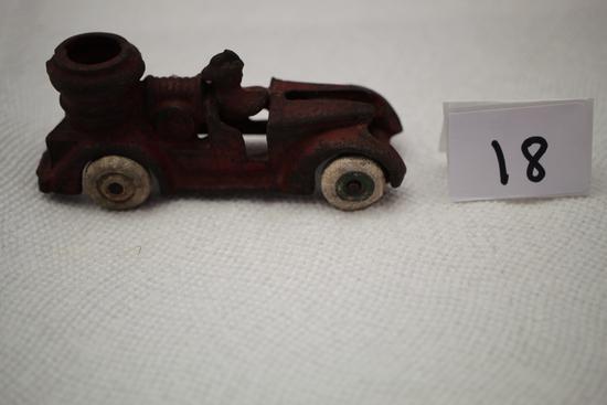 "Cast Iron Fire Truck, 4 1/4""L x 2 1/2""H"