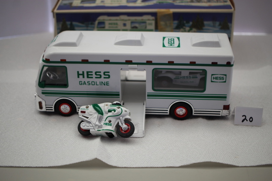 Hess Recreation Van with Dune Buggy and Motorcycle, Battery Operated, Plastic, 1998