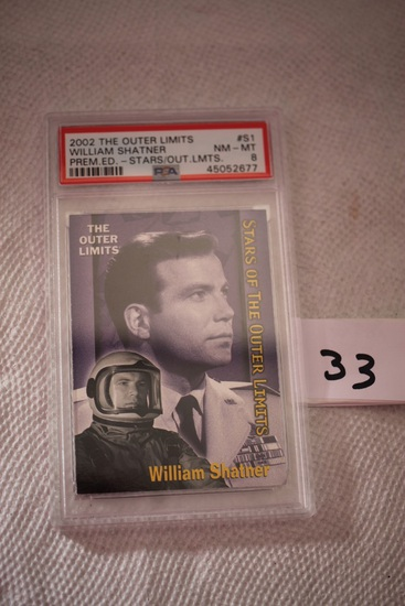 William Shatner, 2002 The Outer Limits Card, #S1, Rittenhouse Archives, Cold Hands-Warm Heart