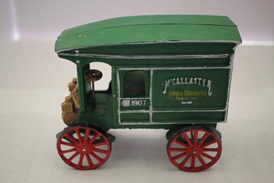 """Cast Iron, McCallister General Merchantile Delivery Truck, 7 1/2""""L x 6 1/4""""H"""